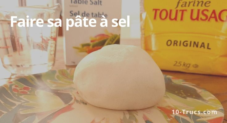 recette pour faire de la pâte à sel facile et rapide