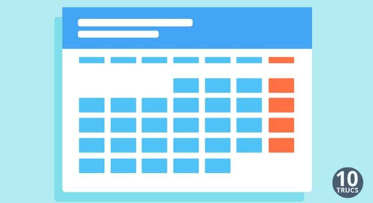 Créer un calendrier gratuit en ligne