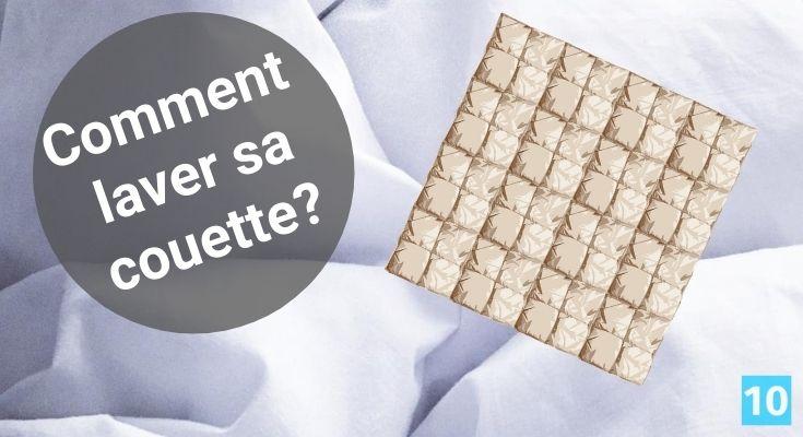 Comment laver et blanchir une couette de lit?