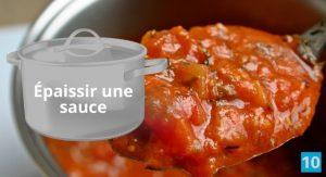 Comment épaissir une sauce tomate?