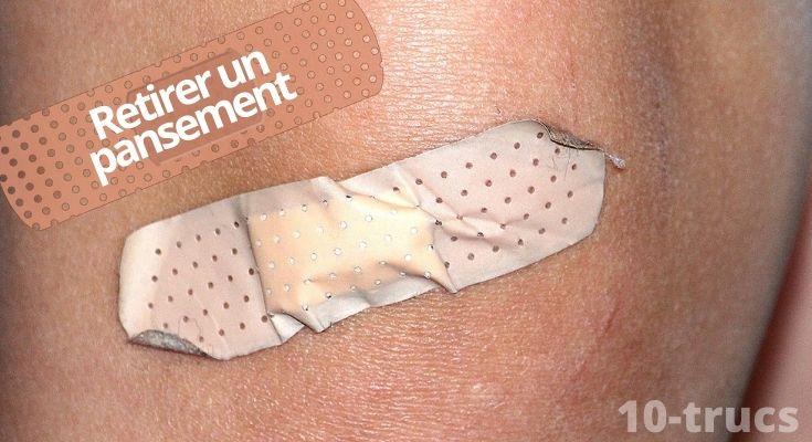 astuce pour retirer un pansement sans douleur sur la peau