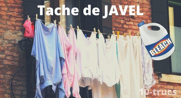 Astuce pour enlever une tache de Javel sur vêtement et tissu
