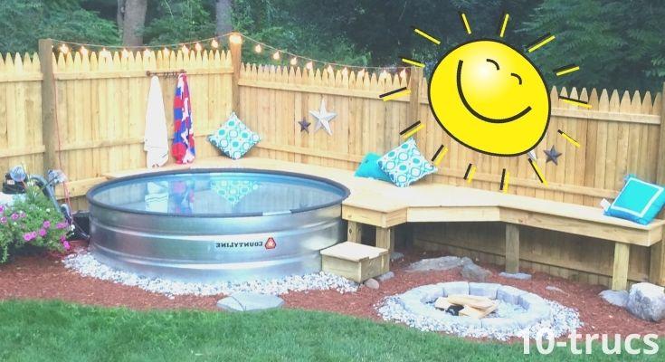 Aménager une piscine dans une cuve en acier galvanisé