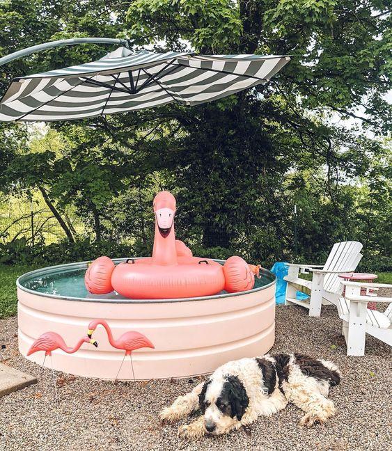 piscine dans une cuve en inox