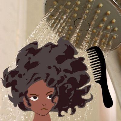 Se démêler les cheveux dans la douche ou après la douche