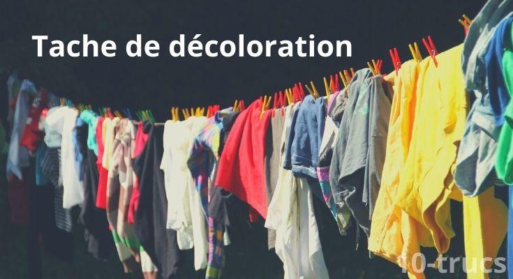 Enlever les taches de décoloration sur vêtement