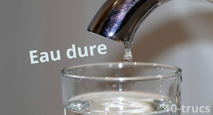 Comment enlever les taches d'eau dure?
