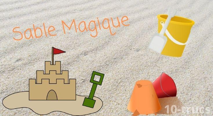 Recette pour faire du sable magique