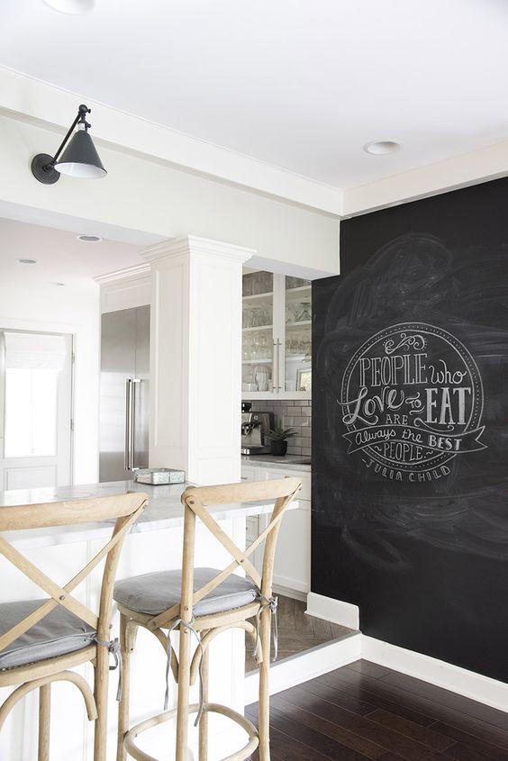Peinture à tableau noir pour la cuisine