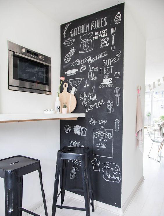 Comment peinturer un mur de cuisine avec de la peinture à tableau noir